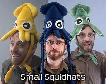 Plush Squid Hat - Small Fleece