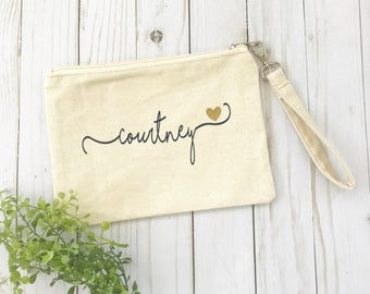 Bridesmaid Gift - Personalized Cosmetic Clutch