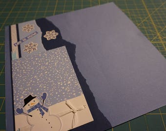 "OOAK ""Let it Snow"" 12 x 12 Single Scrapbook Page"