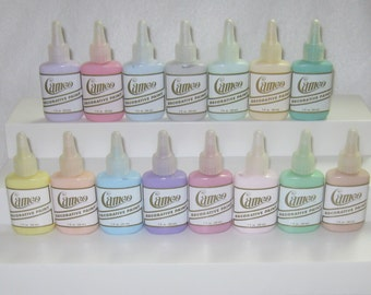 """Ginger's Cameo K005 Pastel Kit Acrylic Ballpoint Fabric Paints 15 Paints Easy """"Just Color With Paints"""" Free Shipping!  Instructions Included"""