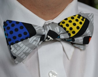 Funky Bow Tie, Bowties Are Cool, Self-tie Bow Tie, Gifts for Him, Grey Bow Tie, Mens Bow Tie, Mens Bowtie, Self Tie Bowtie, Bow Tie, Scify