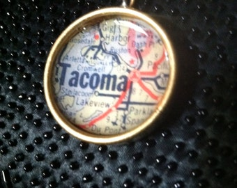 Tacoma Map Necklace