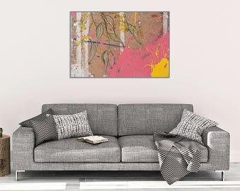Pink Eucalyptus Print, Botanical Print, Botany Art, Print of Original Painting, Eucalyptus Leaves, pink home decor,Botanical Wall Art #901BO