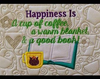 In Hoop Coffee Blanket Pillow Pal