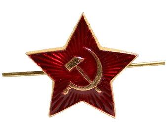 Soviet insignia Big Red Star hat pin, hat badge Russian military cockade