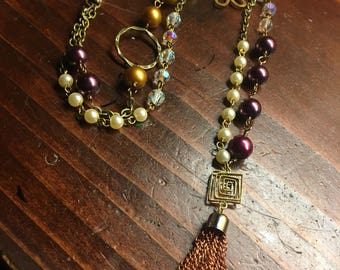 Necklaces Handmade Multi stone hand wired mixed metals