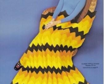 Vintage Ripple Afghan Pattern PDF