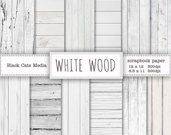 White wood paper, Wood digital background, White wooden texture paper, wood background, white wood texture, rustic wood, instant download