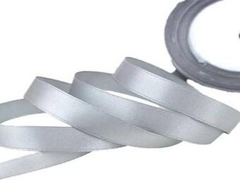 12mm grey satin ribbon