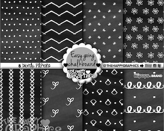 Chalkboard Digital Paper, 80%OFF, COMMERCIAL USE, Chalkboard Pattern, Printable Paper, Easy Going Pattern, Easy Going Paper, Black