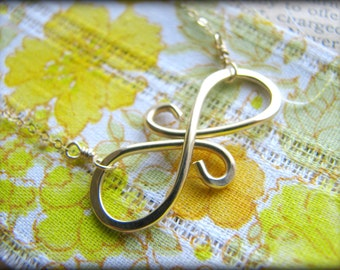 Gold Filled Eternal Friendship Necklace - Symbol Infinity - Priority USPS -Gift Christmas Sisters Mother Daughter Graduation Reunion