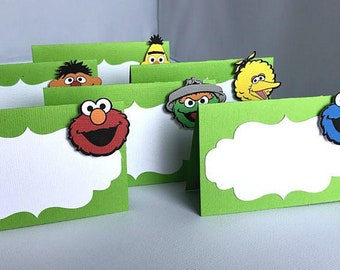 10 Elmo - Sesame Street Party Placecard/Food tents/Food labels
