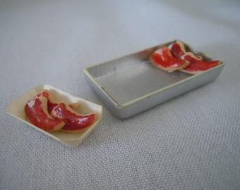 Miniature Steaks ~ Meat ~ Butcher ~ BBQ ~ Food ~ Kitchen ~ Handmade ~ Miniature ~ Fairy garden ~ Dollhouse ~ Terrarium