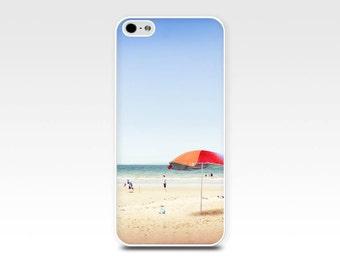Fine Art iPhone 6 Case, Umbrella At The Beach, iPhone 6 Cases, Fine Art Photography, Beach iPhone 5 Case, Nautical Coastal iPhone 4s Case