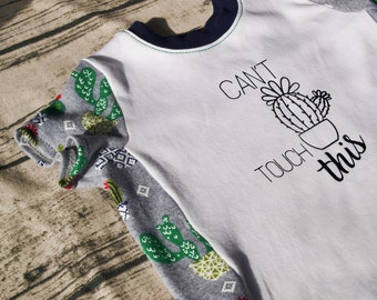 Cactus Print   Cactus Shirt   Baby Clothes   Can't Touch This   Short Sleeve   Succulent   Cactus Tshirt   Succulent Shirt   Birthday Gift