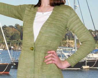 Newport Cardigan to Knit PDF Pattern Instant Download