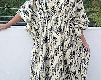 Plus size clothing, plus caftan, plus cotton kaftan,plus bohemian maternity robe, maxi dress boho plus dress tunic robe plus size clothing