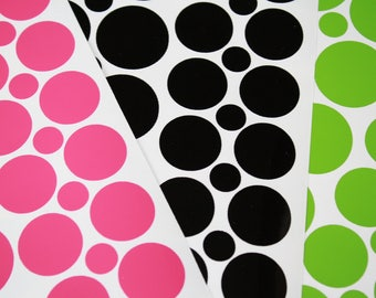 Vinyl Polka Dots decals stickers. Many quantity and color options. FREE SHIPPING!