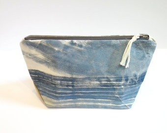 Large Zip Tote - Hand Painted Pouch
