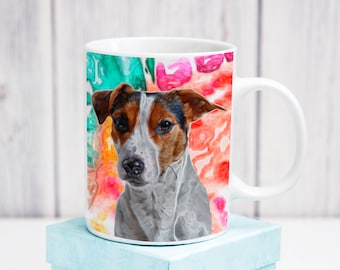 Jack Russell Art Coffee Mug Gift Idea Fathers Day Mothers Day Christmas