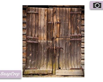 Old Wooden Doors Photography Backdrop