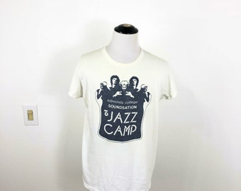 70's vintage hanes 100% cotton jazz camp t-shirt size XL