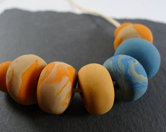 Sunset Necklace — 100% handmade with polymer clay