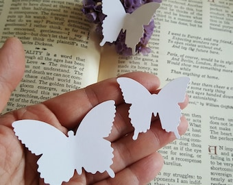 Pick Your Colors/Butterfly die cuts,White butterfly die cuts,Butterfly cut outs/2in butterflies,Wedding decoration,Butterfly theme,Butterfly