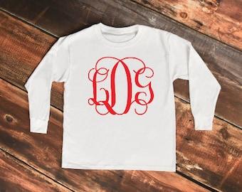 monogram comfort color, comfort color, vine monogram, comfort color long sleeve, preppy tee, southern tee , large monogram , monogram shirt