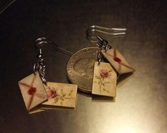 Love Letter Earrings, Fantasy Romance Jewelry