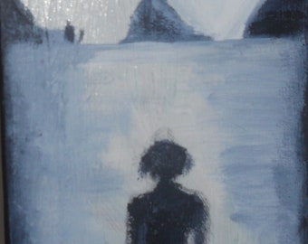 Woman figurative pic  on beach - sold