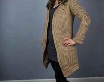 Instant Download- Crochet Pattern- Kristen Cardigan