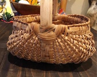 Splint Oak Buttocks Basket / Gathering Basket