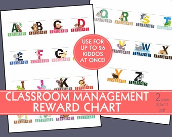 REWARD CHART/Classroom Management Tool/Technique for preschool/daycare/child care/VBS/Sunday School/Drop in Care/in home/elementary school