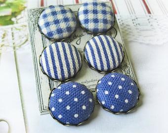 Light Blue Earrings, Polka Dot Accessory, Girls Earrings, Striped Earrings, Playful Earrings, Spring Earrings, Sky Blue Earrings