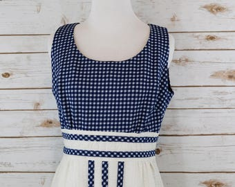 70s Blue and white Dress
