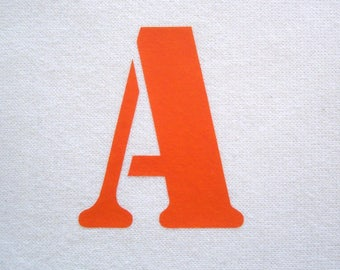 Iron-on stencil letter