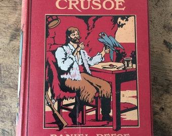 Antiquarian Book. Robinson Crusoe by Daniel Defo 1918.