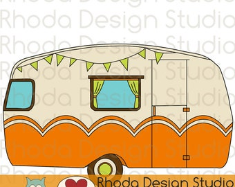 Vintage Camper Adventure Digital Clip Art Retro Camp Trailers