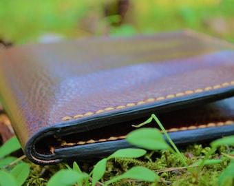 Leather Wallet  - A Handmade Bi-fold Leather Wallet - Leather Billfold Wallet