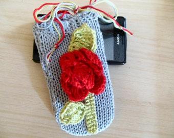 Phone Case, Rose Phone Case, Red Rose iphone Case, Mobile Phone Sleeve, Smart Phone, Rose Phone Accessory Organic Cotton Girlfriend Gift
