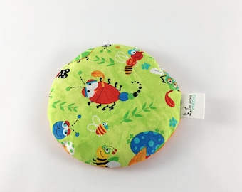 Ice Pack Boo Boo Bag, Green with Multi-Colored Bugs, Ice Pack, Round All Better Bag