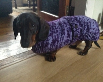 Dachshund Coat knitting pattern FREE UK Postage