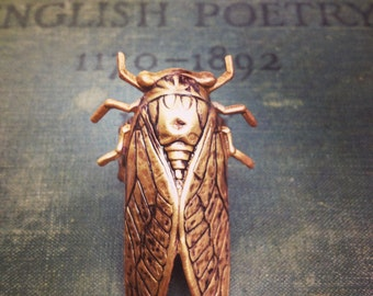 The Cicada Ring -Romantic, Boho, Victorian Style Filigree Macabre Ring