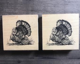 Vintage Turkey Small Wooden Block Stamp