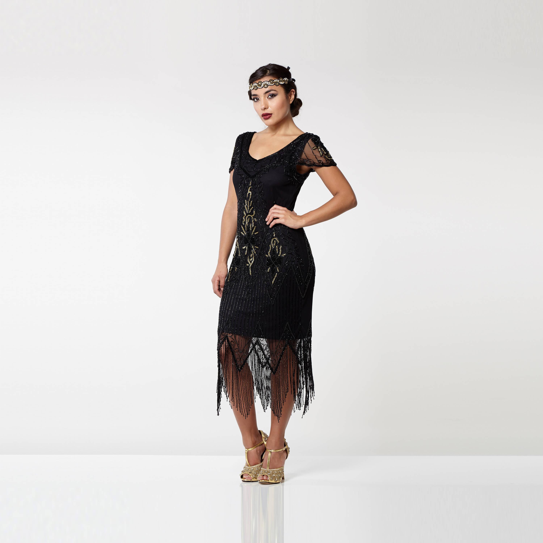 Großartig Flapper Stil Brautjunferkleider Zeitgenössisch ...
