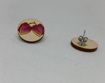 Big Boronia Earrings - Flower Stud Earrings-Boronia Flower-Earring Studs-Australian Earrings-Pink Flower Studs-Boronia Flower Studs