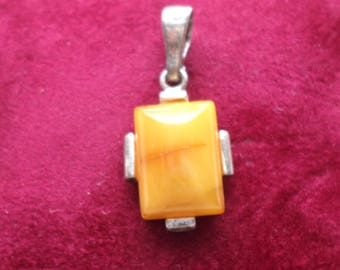 Beautiful Honey Baltic Amber and Sterling Silver