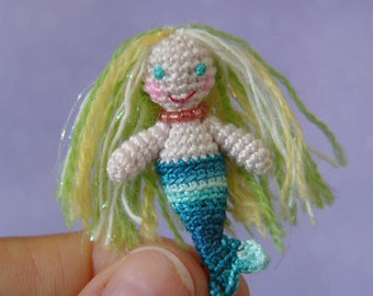 PDF PATTERN - Crochet Miniature Mermaid - Amigurumi Tutorial
