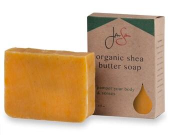 Cinnamon Orange Natural Organic Shea Butter Soap Bar -  4.5 oz - 128 grams